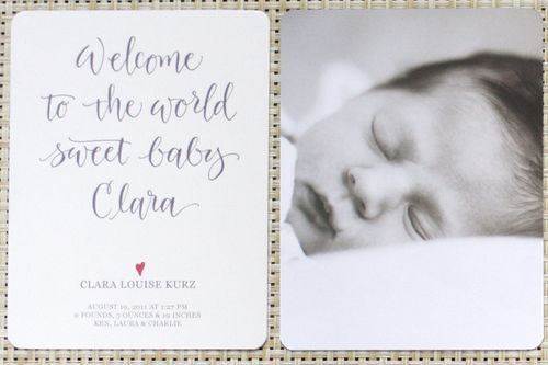Birth announcement - twoA