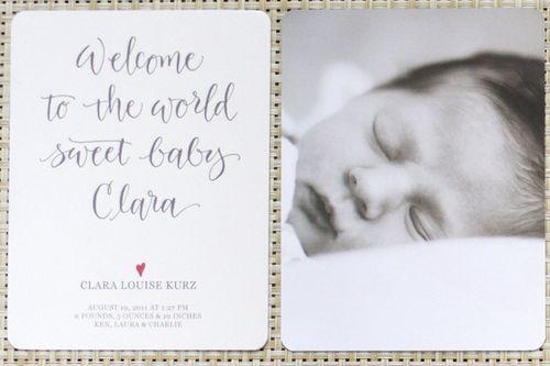 Birth announcement - twoA