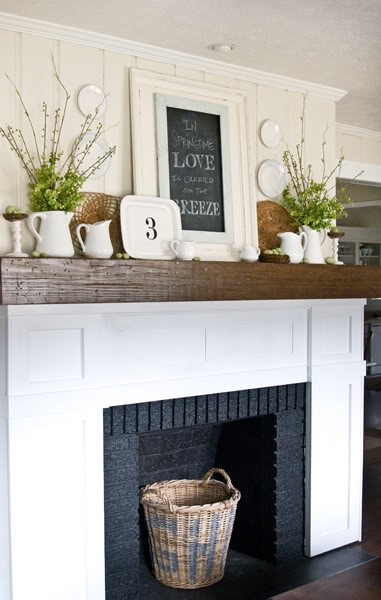 House - wood mantle