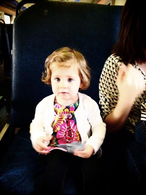 Clara on train