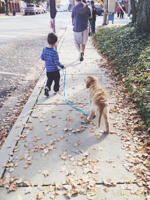 Charlie walking grace