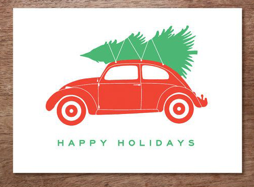 Happy holidays car