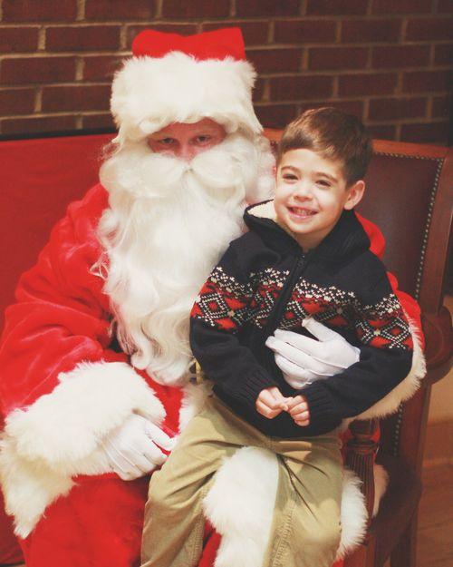 Charlie with santa
