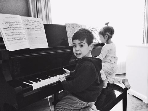 Piano with ellie