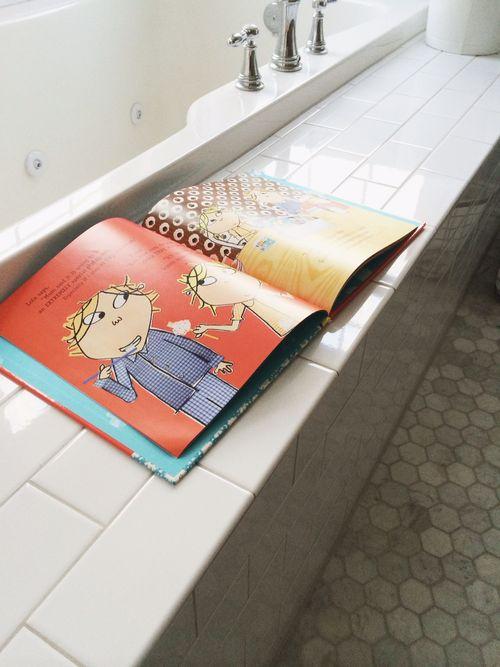 Books in bath
