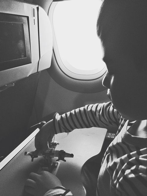 Playing on plane