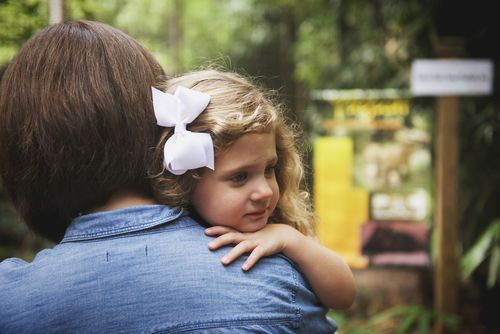 Clara hug at zoo