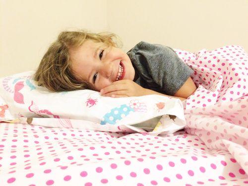Clara in bed