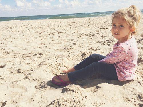 Clara on beach